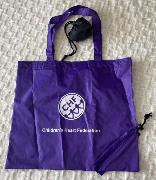 Purple shopping bag